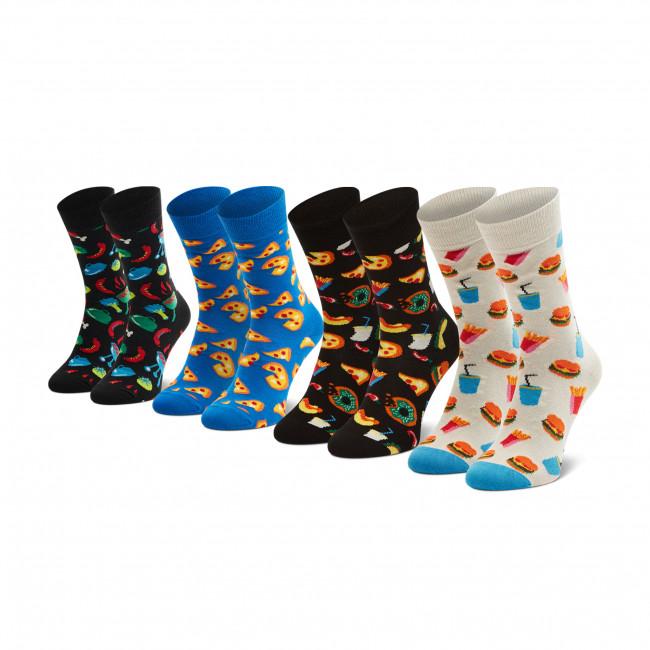 Súprava 4 párov vysokých ponožiek unisex HAPPY SOCKS - XFOO09-9300 Farebná
