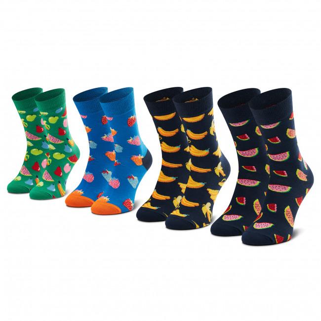 Súprava 4 párov vysokých ponožiek unisex HAPPY SOCKS - XFRU09-6500 Farebná
