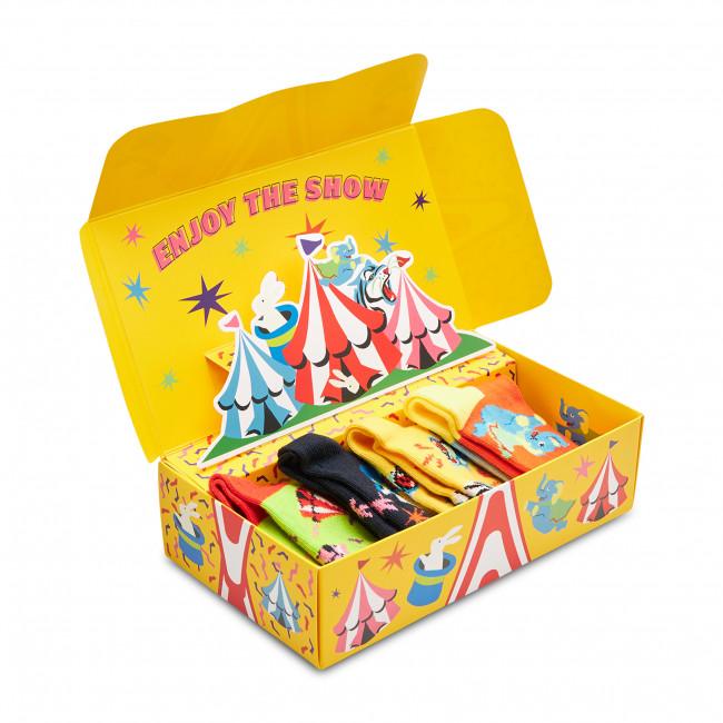 Súprava 4 párov vysokých  ponožiek detských HAPPY SOCKS - XKCIR09-0200 Farebná