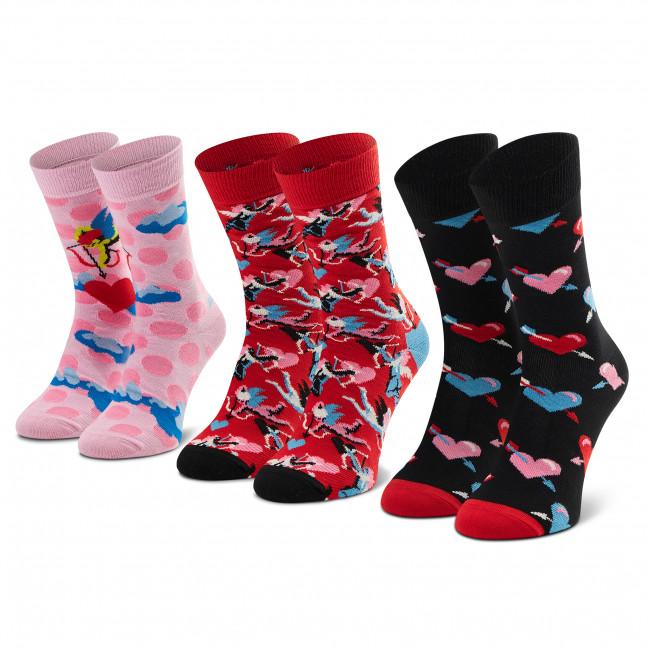Súprava 3 párov vysokých ponožiek dámských HAPPY SOCKS - XLOV08-4400 Farebná
