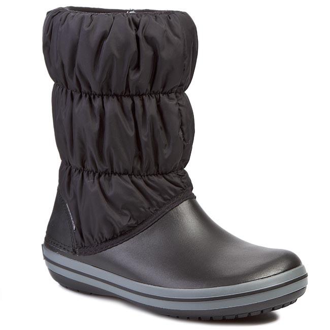 Snehule CROCS - Winter Puff 14614 Black/Charcoal