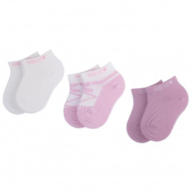 Súprava 3 párov kotníkových ponožiek detských GUESS - S01G21 Z2J50 r.OS F448