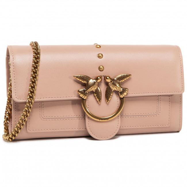 Kabelka PINKO - Love Wallet Simply 2 C AI 20-21 PLTT 1P21SF Y6JC Light Pink Q19