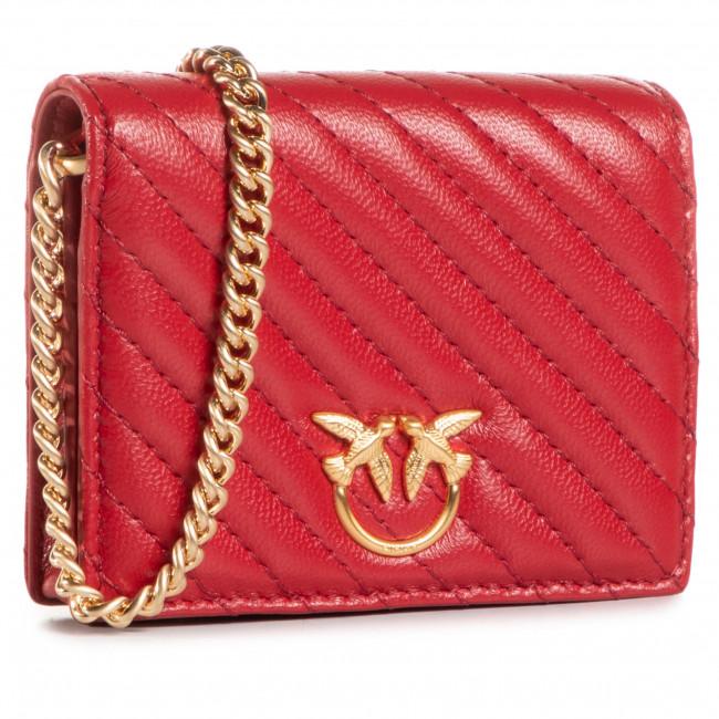 Kabelka PINKO - Jolie Credit Card Holder V Quilt AI 20-21 PLTT 1P21U6 Y6KT Ruby Red R72