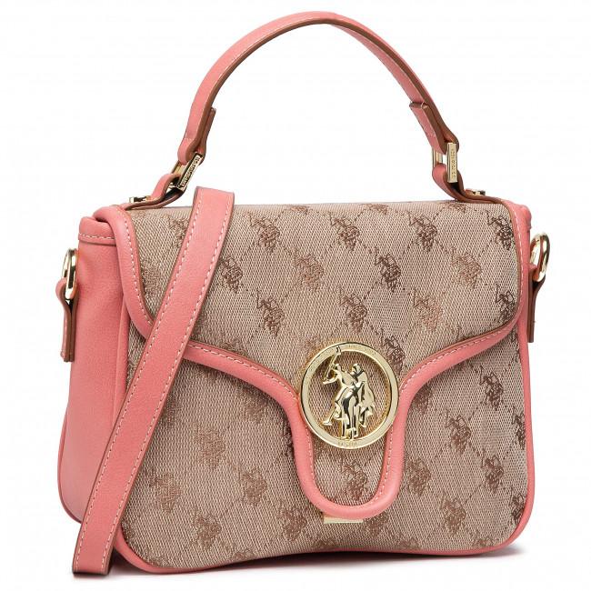 Kabelka U.S. POLO ASSN. - Lady Lake S Flap Bag BEUKG5230WJP406 Peach