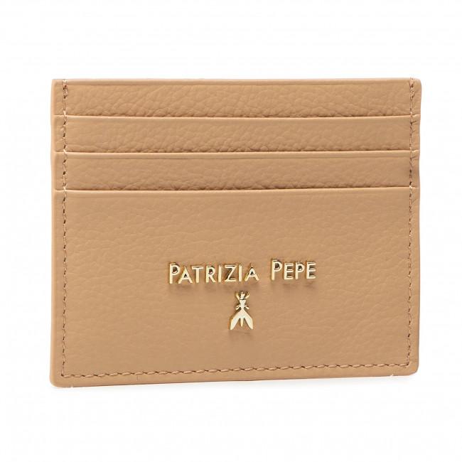 Púzdro na kreditné karty PATRIZIA PEPE - 2V7001/A4U8N-B685 Pompei Beige