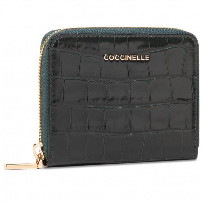 Malá Dámska Peňaženka COCCINELLE - GW6 Metallic Croco Shiny Soft E2 GW6 11 A2 01 Mallard Green G31