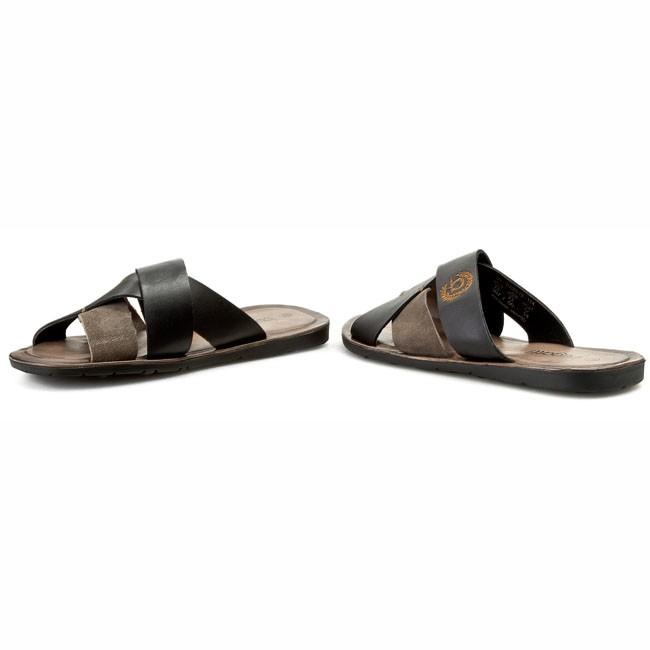 e1820ec45 Šľapky BUGATTI - U7884-13 Black/Grey 114 - Šľapky - Šľapky a sandále ...