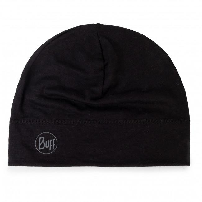 Čiapka BUFF - Lightweight Mering Wool Hat 113013.999.10.00 Solid Black