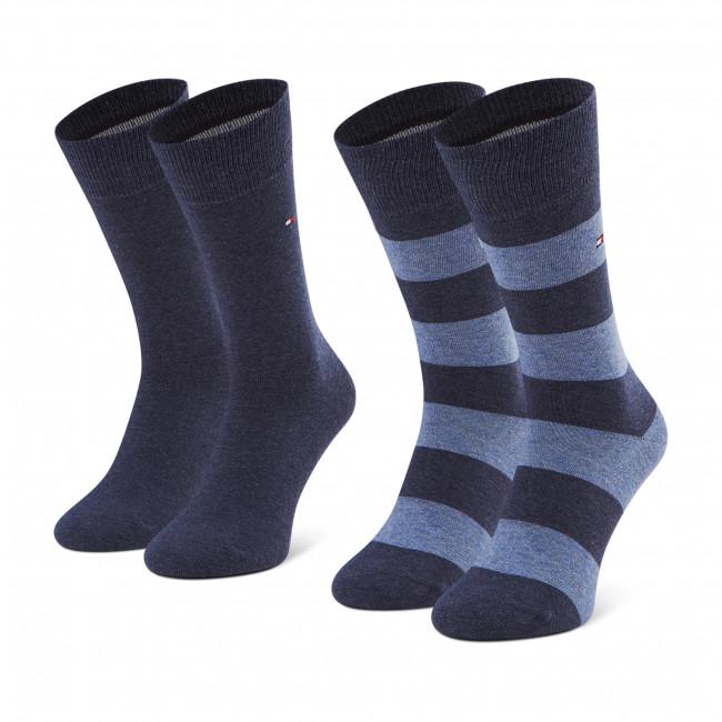 Súprava 2 párov vysokých ponožiek pánskych TOMMY HILFIGER - 342021001  Jeans 356