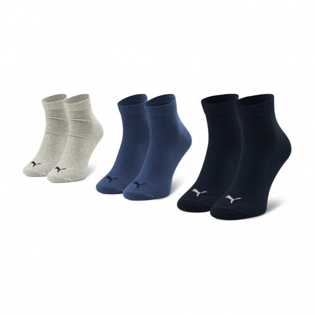 Súprava 3 párov vysokých ponožiek pánskych PUMA - 271080001  Navy/Grey/Nightshadow Blue 532