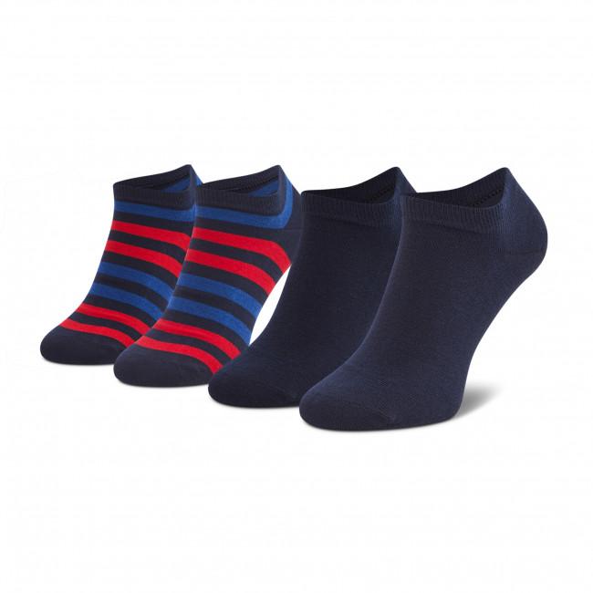 Súprava 2 párov kotníkových ponožiek pánských TOMMY HILFIGER - 382000001 Tommy Original 085
