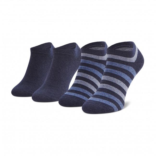 Súprava 2 párov kotníkových ponožiek pánských TOMMY HILFIGER - 382000001  Jeans 356