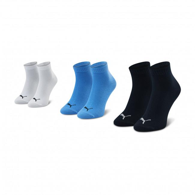 Súprava 3 párov kotníkových ponožiek detských PUMA - 194011001 Čierna Modrá
