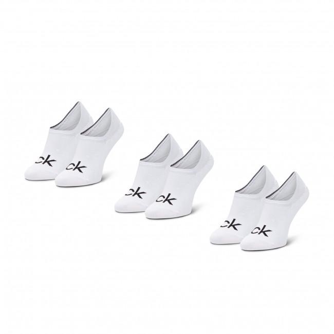 Súprava 3 párov krátkych ponožiek pánskych CALVIN KLEIN - 100001756 White 002