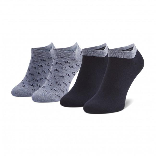 Súprava 2 párov kotníkových ponožiek pánských CALVIN KLEIN - 100001762  Blue Combo 003