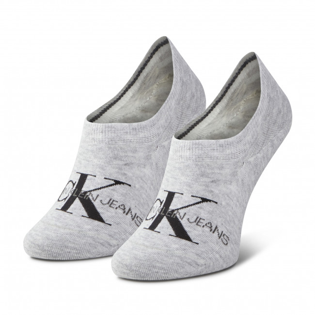 Ponožky Krátke Dámske CALVIN KLEIN JEANS - 100001769 Light Grey Melange 007