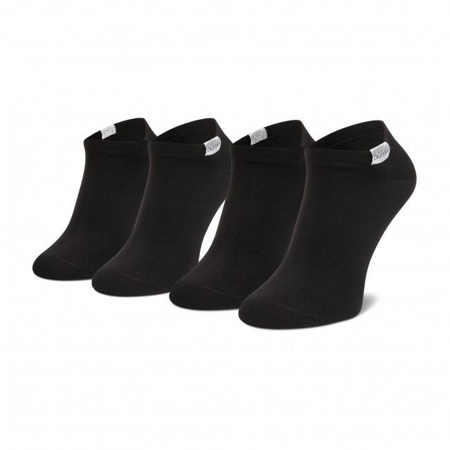 Súprava 2 párov kotníkových ponožiek dámskych CALVIN KLEIN - 100001771  Black 001