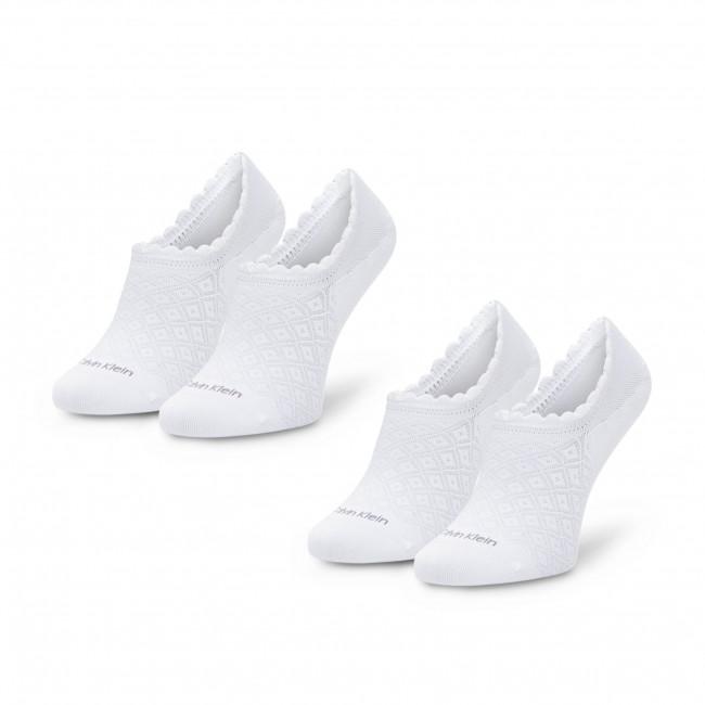 Súprava 2 párov krátkych ponožiek dámskych CALVIN KLEIN - 100001799 White 002
