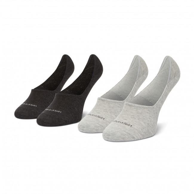 Súprava 2 párov krátkych ponožiek pánskych CALVIN KLEIN - 100001807 Grey Combo 009