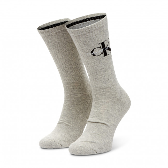 Ponožky Vysoké Pánske CALVIN KLEIN JEANS - 100001816 Light Grey Melange 003