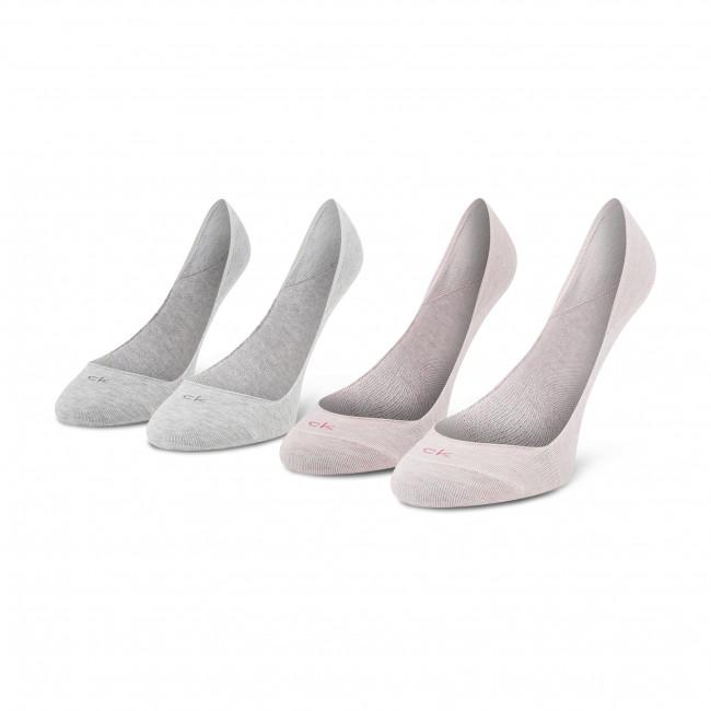 Súprava 2 párov krátkych ponožiek dámskych CALVIN KLEIN - 100001798 Pink Combo 004