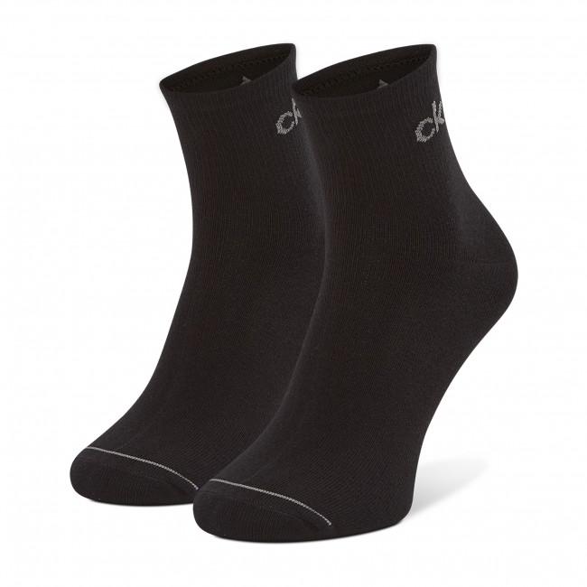 Súprava 3 párov vysokých ponožiek pánskych CALVIN KLEIN - 100001889 r.OS Black 001