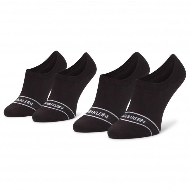 Súprava 2 párov krátkych ponožiek dámskych CALVIN KLEIN - 100001898 Black 001