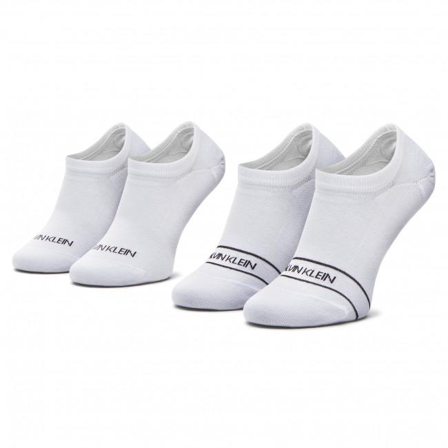 Súprava 2 párov krátkych ponožiek dámskych CALVIN KLEIN - 100001898 White 002