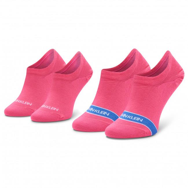 Súprava 2 párov krátkych ponožiek dámskych CALVIN KLEIN - 100001898 Pink 004