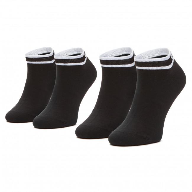 Súprava 2 párov kotníkových ponožiek dámskych CALVIN KLEIN - 100001900 Black 001