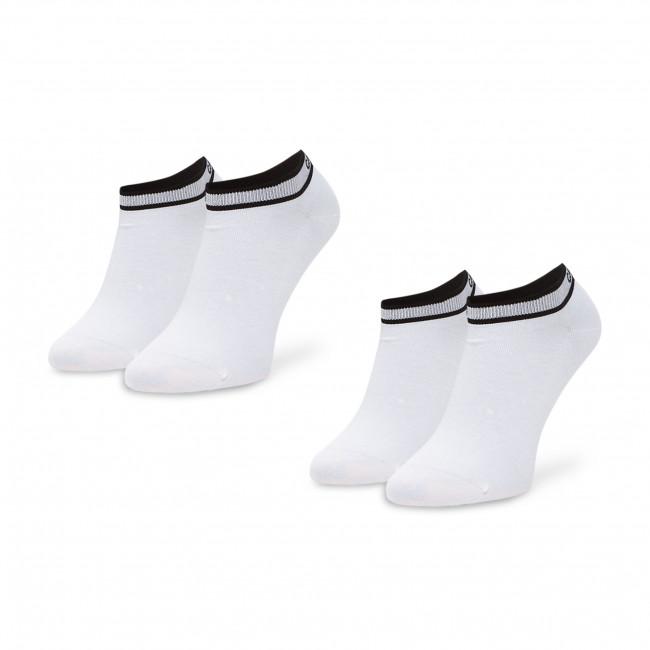 Súprava 2 párov kotníkových ponožiek dámskych CALVIN KLEIN - 100001900 White 002
