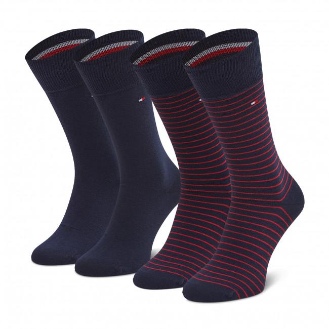 Súprava 2 párov vysokých ponožiek pánskych TOMMY HILFIGER - 100001496 Tommy Original 085