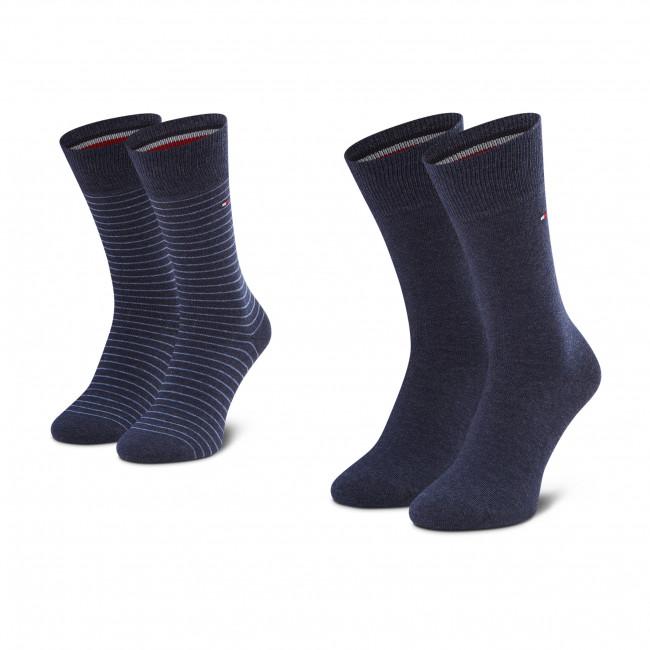 Súprava 2 párov vysokých ponožiek pánskych TOMMY HILFIGER - 100001496 Jeans 356