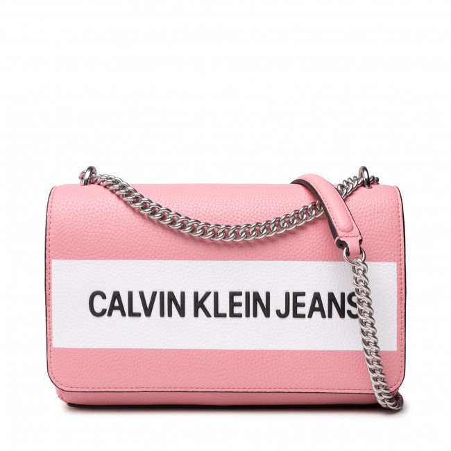 Kabelka CALVIN KLEIN JEANS - Ew Flap Convertible K60K608562  Soft Berry TIV