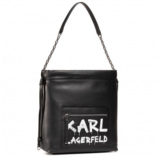 Kabelka KARL LAGERFELD - 206W3062  Black/White 998
