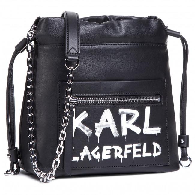 Kabelka KARL LAGERFELD - 206W3074  Black/White