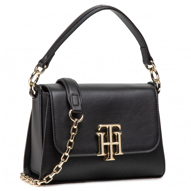 Kabelka TOMMY HILFIGER - Th Lock Small Satchel AW0AW09972 BDS