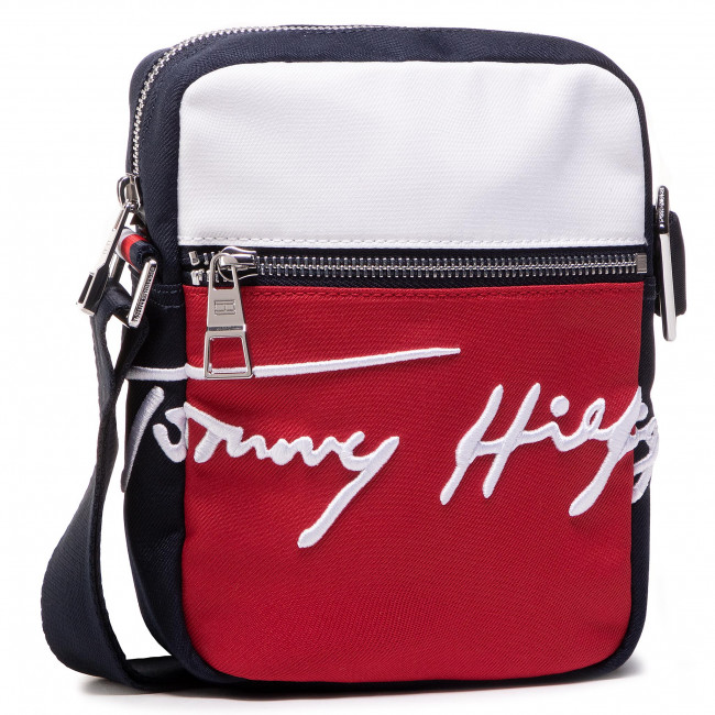 Brašna TOMMY HILFIGER - Th Signature Mini Reporter AM0AM07382 Blu