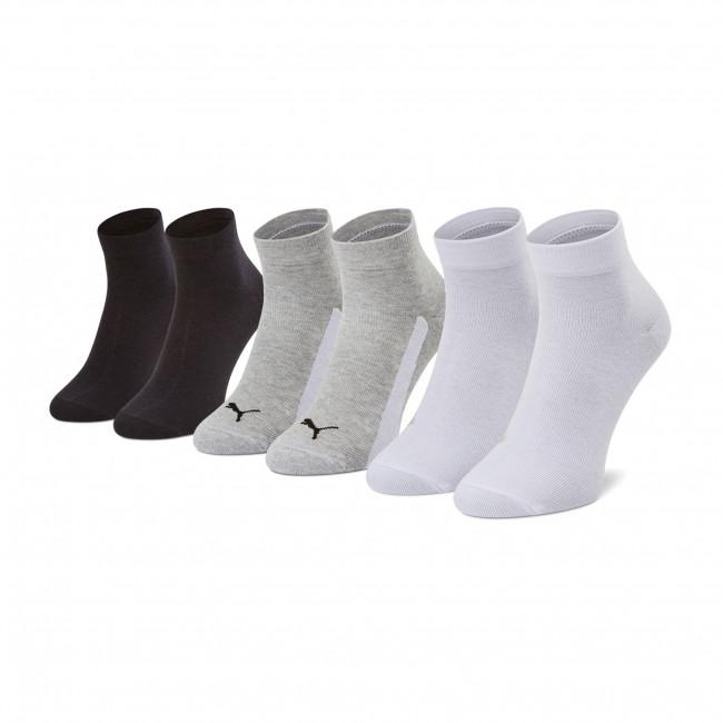 Súprava 3 párov vysokých ponožiek detských PUMA - 907961 02 Farebná Sivá