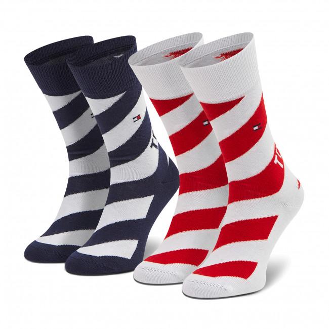 Súprava 2 párov vysokých ponožiek detských TOMMY HILFIGER - 100002307 Tommy Original 001
