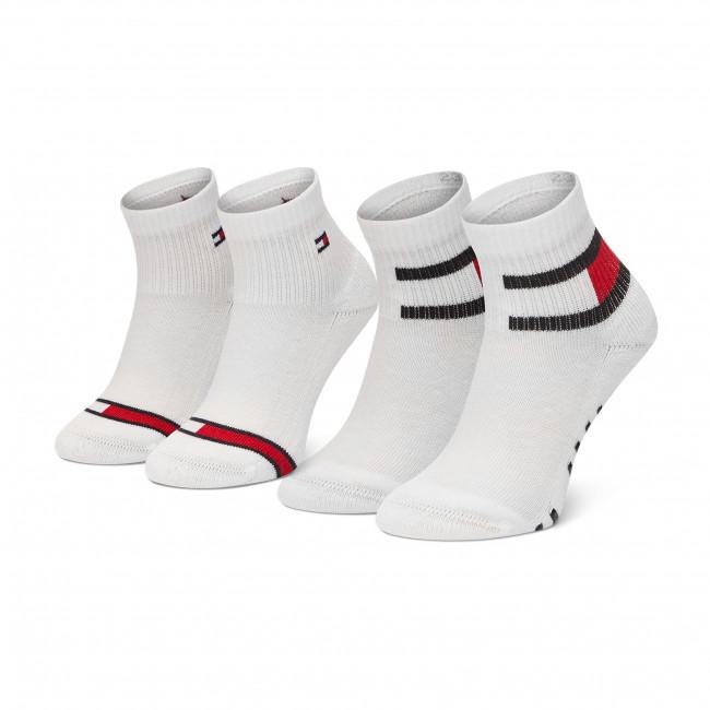 Súprava 2 párov vysokých ponožiek detských TOMMY HILFIGER - 100002319  White 001