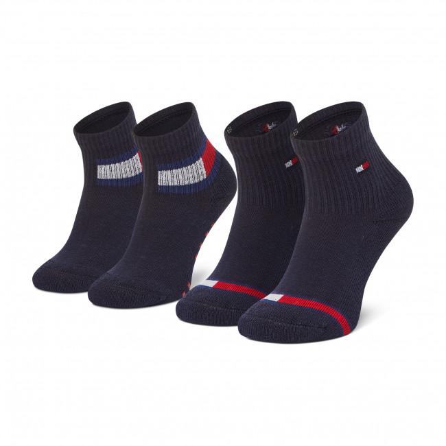 Súprava 2 párov vysokých ponožiek detských TOMMY HILFIGER - 100002319  Tommy Original 003