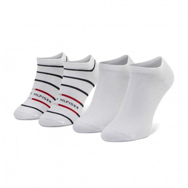 Súprava 2 párov kotníkových ponožiek pánských TOMMY HILFIGER - 100002211 White 100