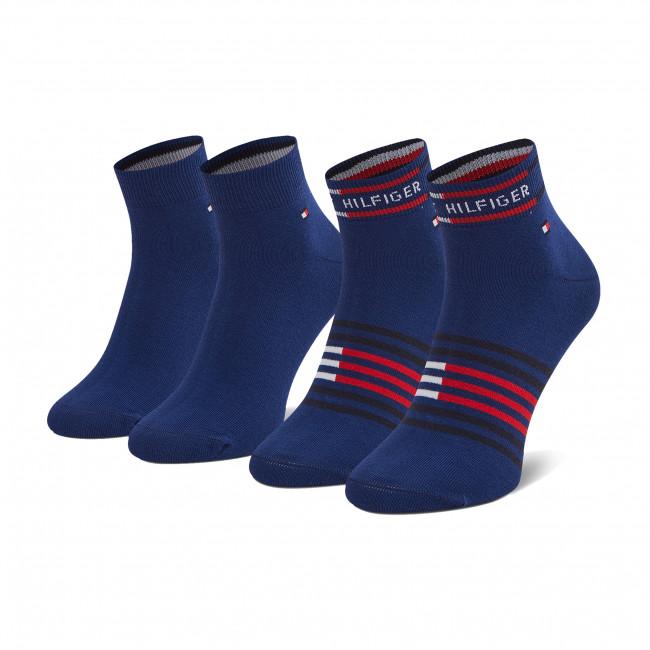 Súprava 2 párov kotníkových ponožiek pánských TOMMY HILFIGER - 100002212 Blue Depths 003