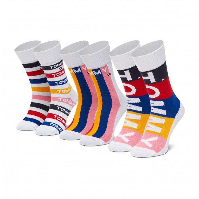 Súprava 3 párov vysokých ponožiek detských TOMMY HILFIGER - 100002315 Orginal 001