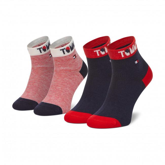 Súprava 2 párov vysokých ponožiek detských TOMMY HILFIGER - 100002320  Tommy Original 001