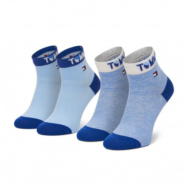 Súprava 2 párov vysokých ponožiek detských TOMMY HILFIGER - 100002320  Blue Combo 002