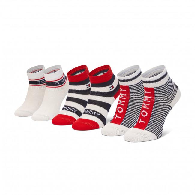 Súprava 3 párov kotníkových ponožiek detských TOMMY HILFIGER - 100002326 Original  001