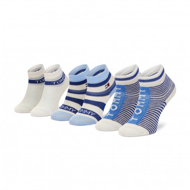Súprava 3 párov kotníkových ponožiek detských TOMMY HILFIGER - 100002326 Blue Combo 002